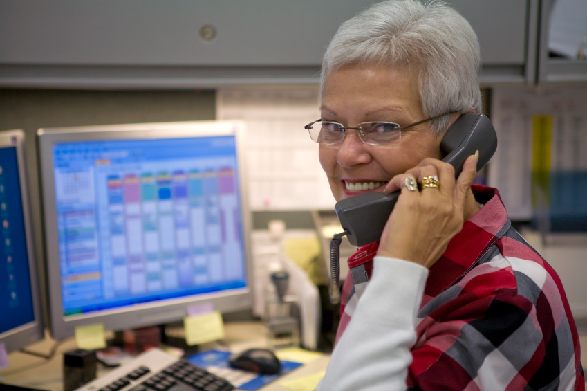 Photo of Customer Service person on the phone