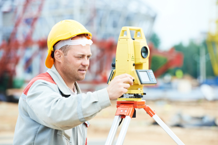 Photo of Land Surveyor in the field
