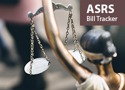 Scales of Justice image and ASRS Bill Tracker label