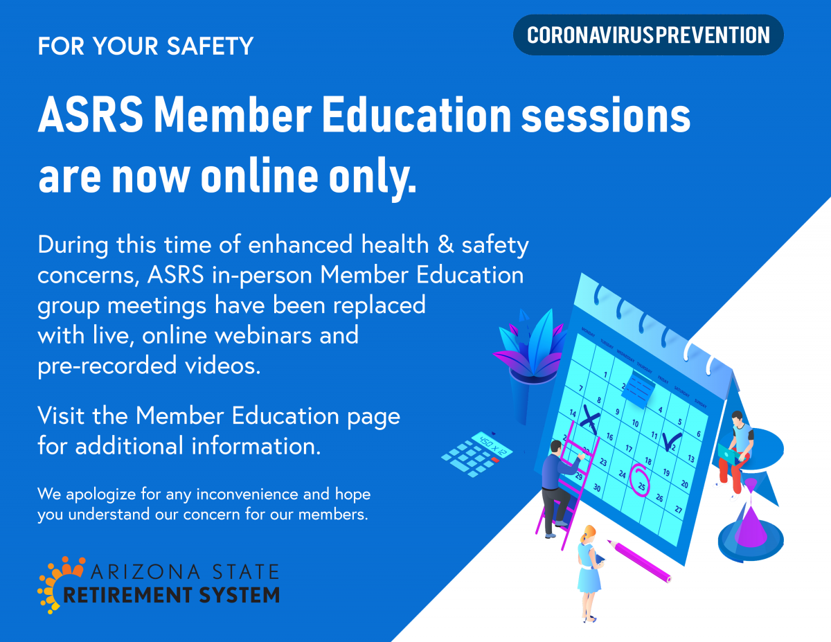 Member Education is Temporarily Online Only