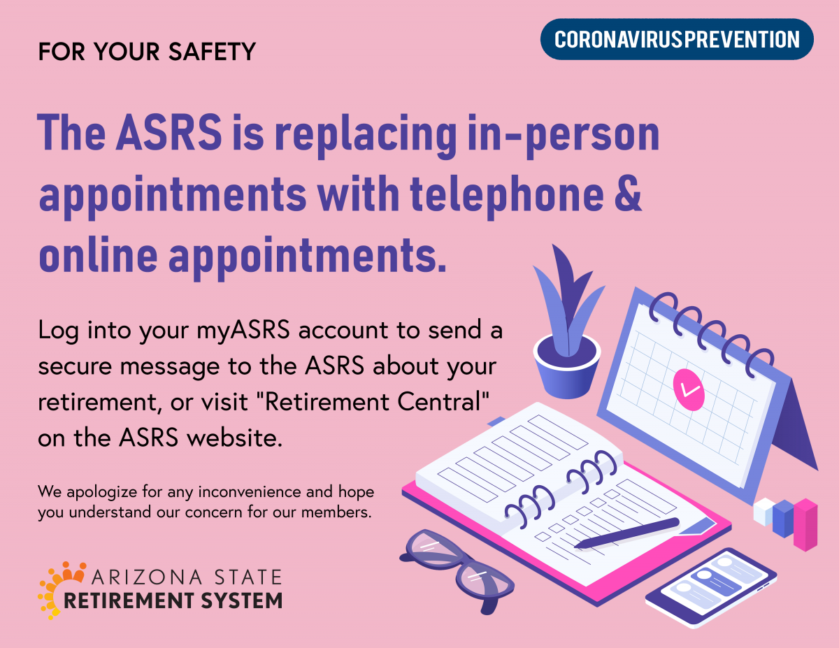 ASRS Member Appointments are temporarily remote only